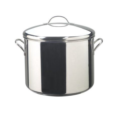 Farberware Classic Stainless Steel 16-Quart Covered Stockpot, Silver