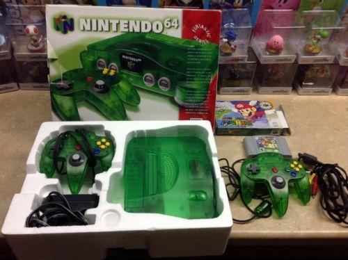 RARE Complete CIB Funtastic Nintendo 64 Jungle Green Console
