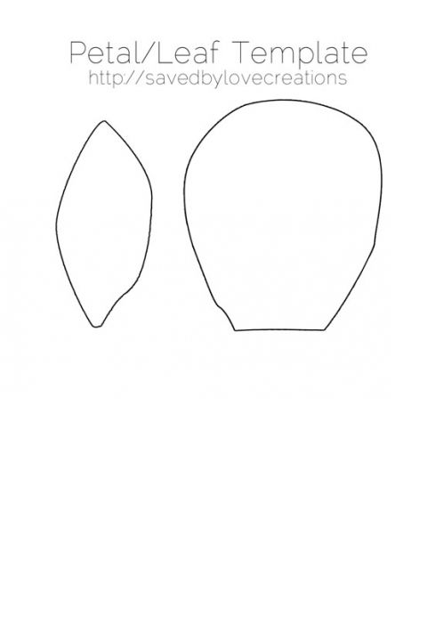 Download these free flower petal template shapes and create your - flower petal template