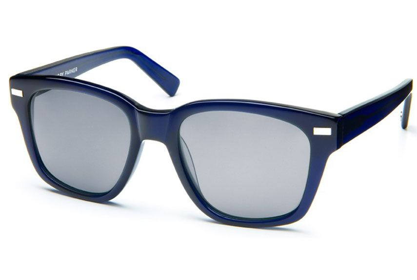 Already known for their quality at affordable prices, Warbys get a shock of midnight blue — in a shape that's shockingly easy on the eyes. And pretty much any face. Everett ($95) by Warby Parker, warbyparker.com