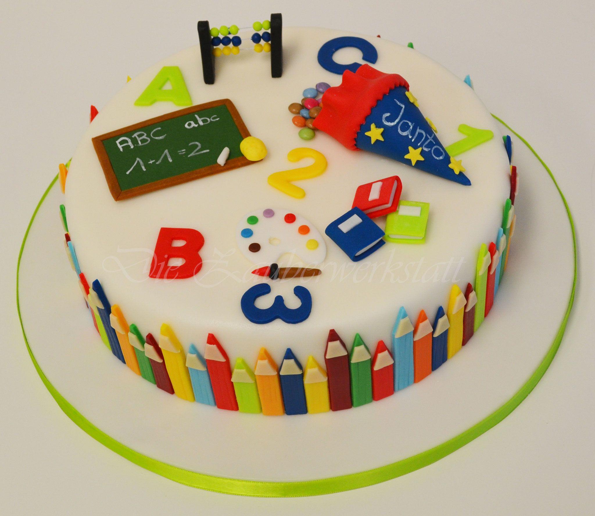 Einschulungstorte Die Zauberwerkstatt Einschulungstorte Kuchen Einschulung Torte Einschulung