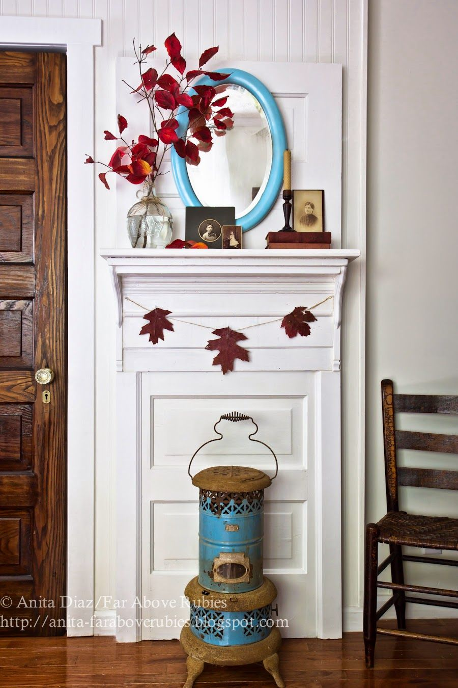 diy door upcycle into mantle don u0027t have a fireplace create the