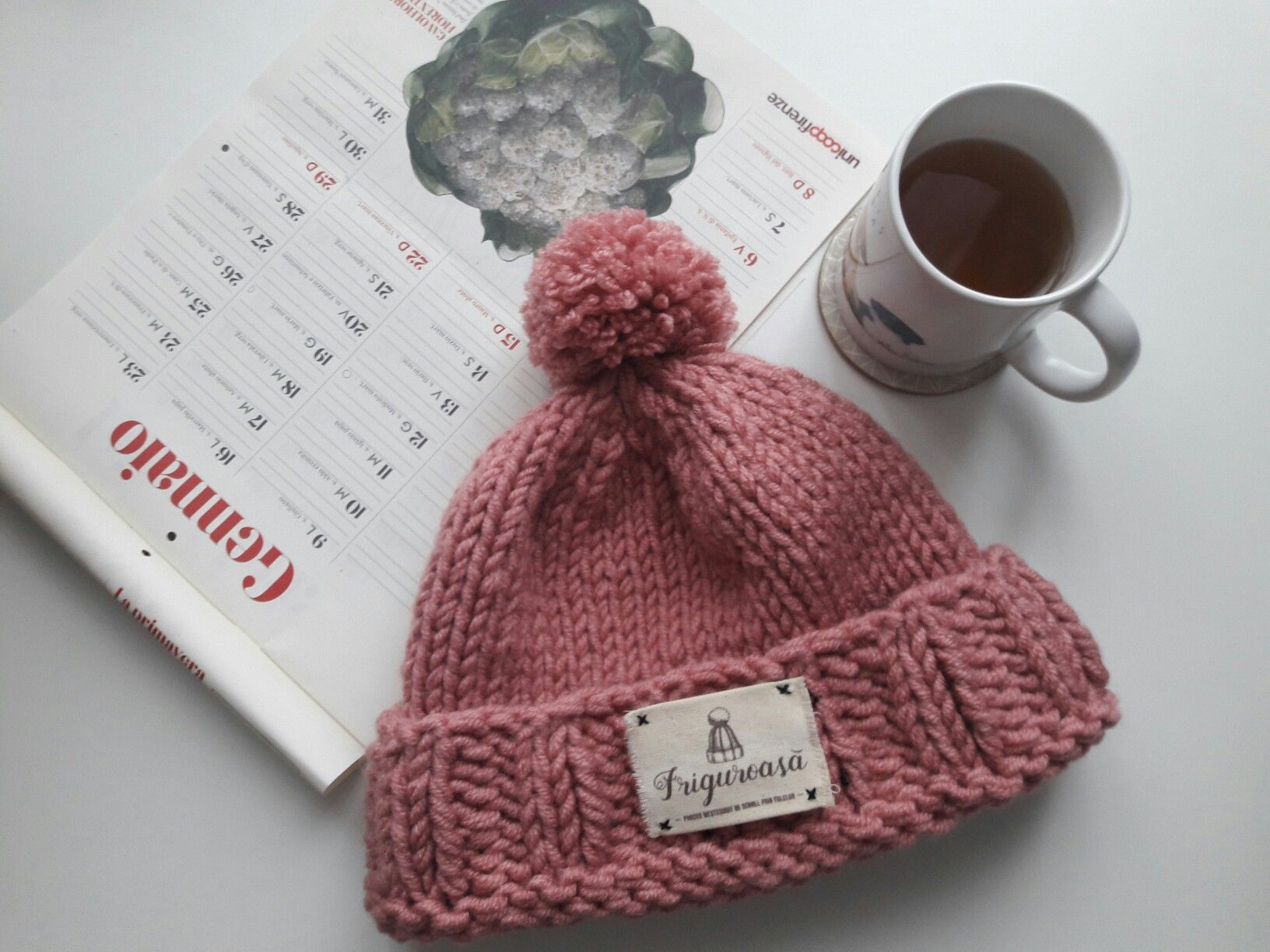 Lovely morning! #knithat #hat #caciula # caciulatricotata #pink #roz ...