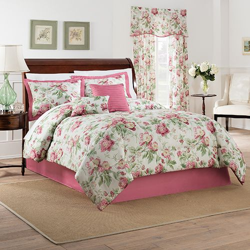 Waverly Forever Yours 6pc Comforter Set Berry Bedding
