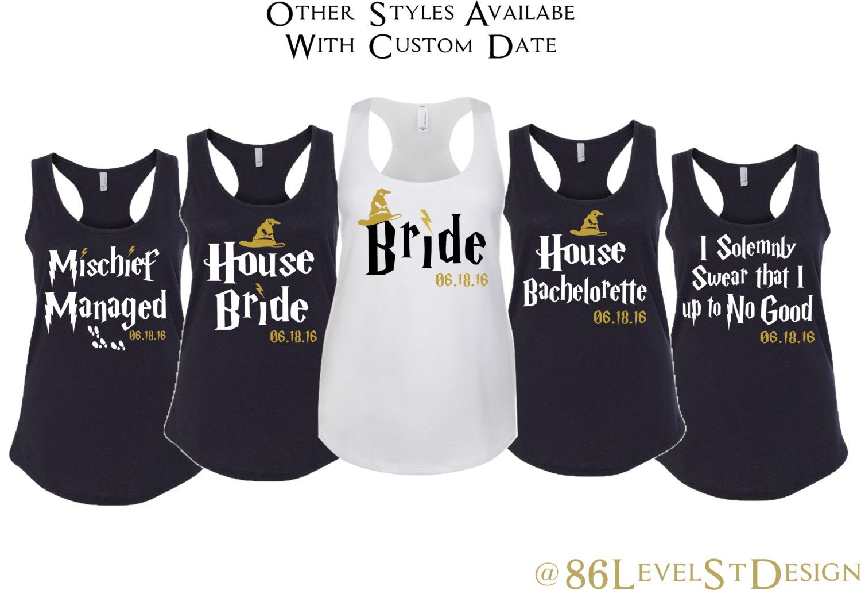 Harry Potter Bachelorette Shirt Set. House Bride Shirt