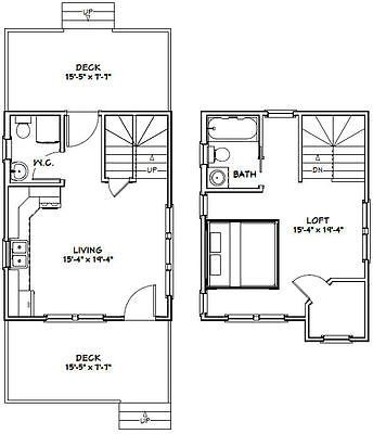 16x20 Tiny House 586 Sq Ft Pdf Floorplan Model 9b Tiny House Floor Plans How To Plan Floor Plans