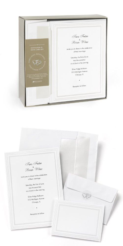 Hortense B Hewitt 50 Count Triple Pearl Border Invitation Kit