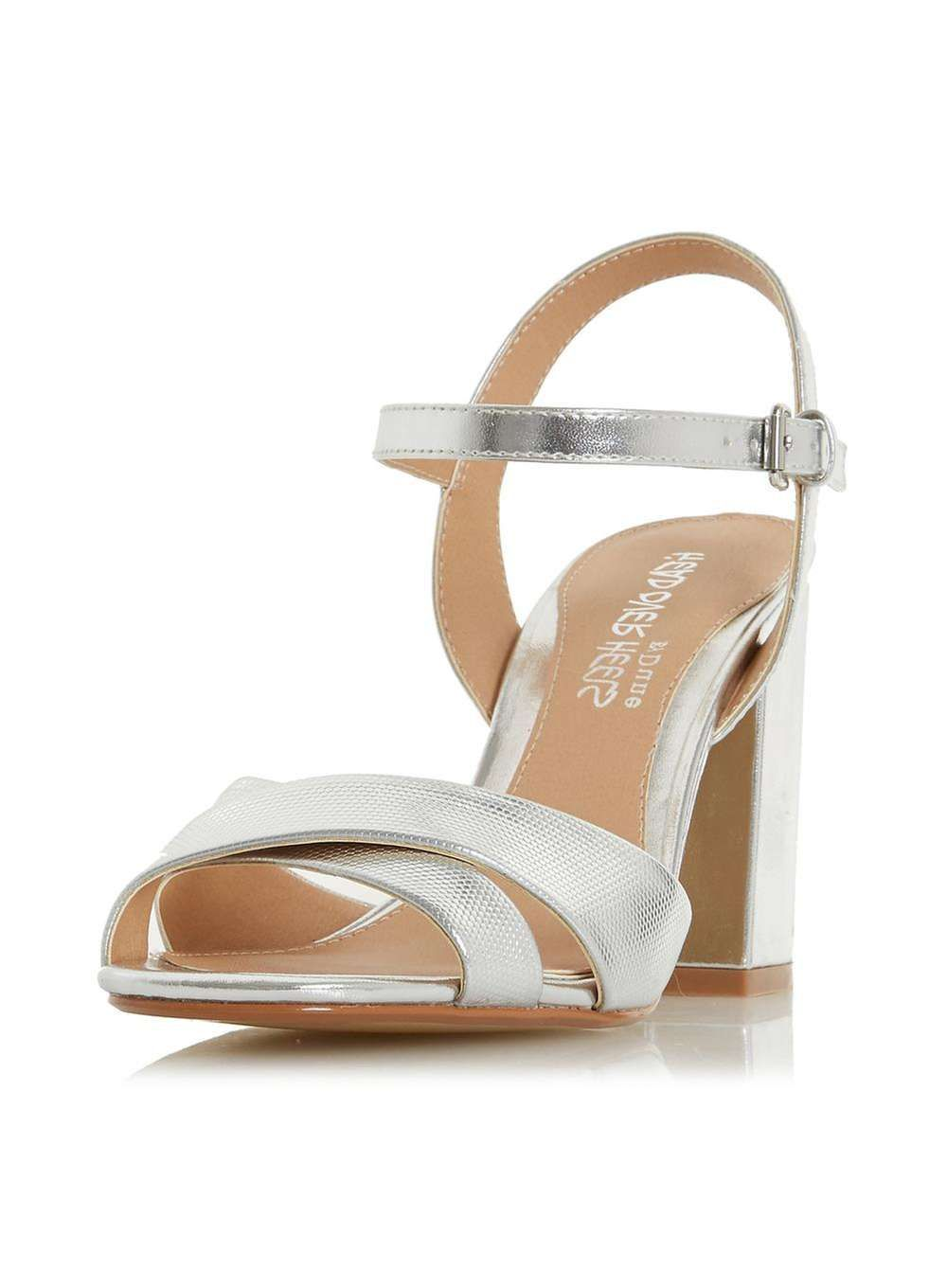 aff9ced3e Womens *Head Over Heels by Dune Silver 'Missty' Heel Sandals- Silver