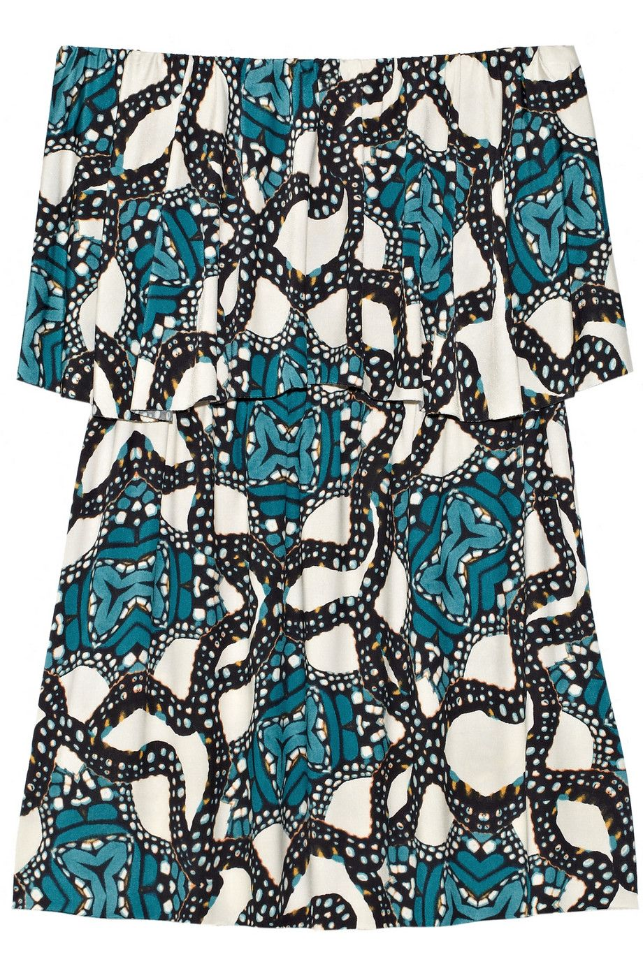 Printed stretch-satin jersey mini dress   T-Bags   THE OUTNET