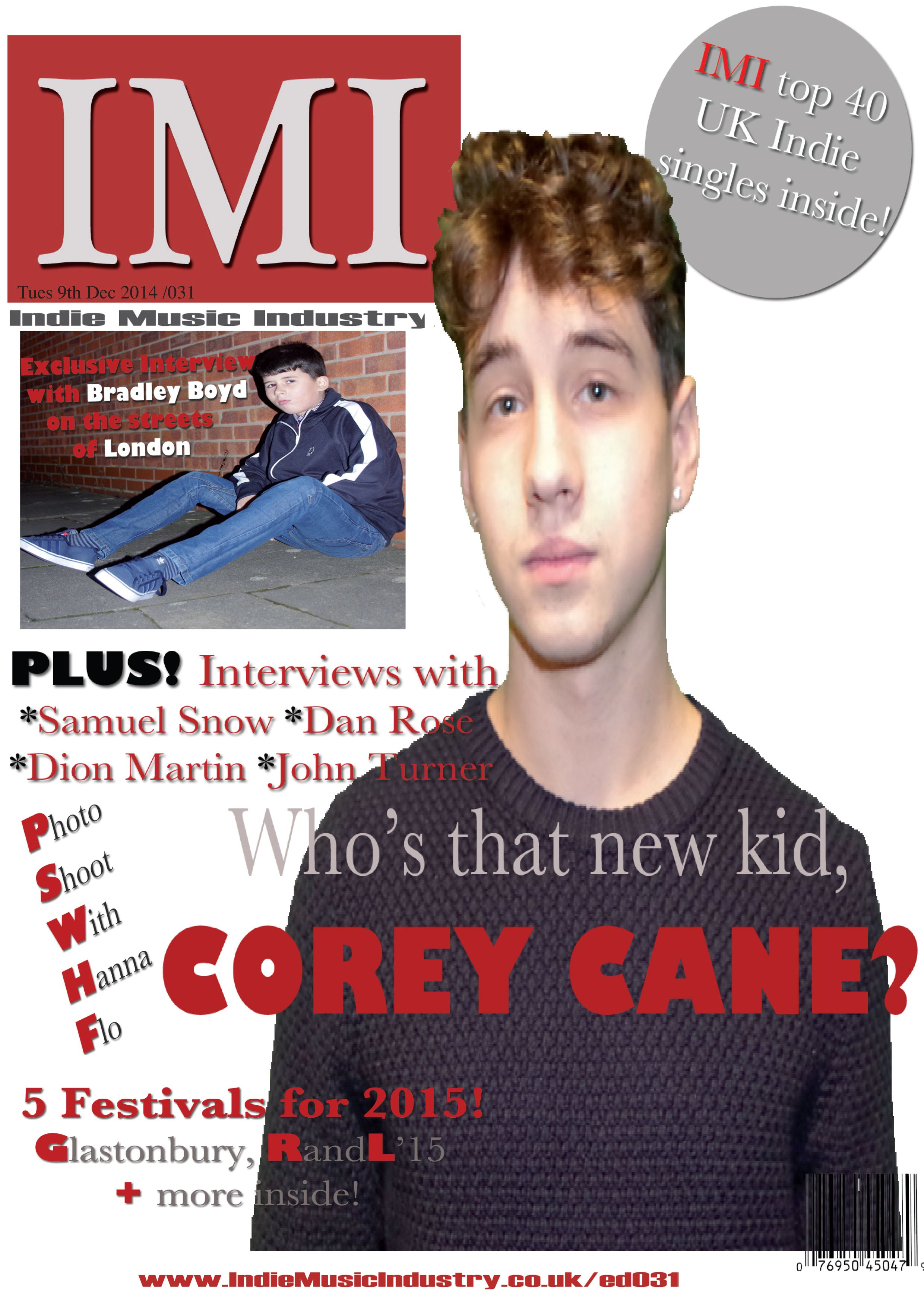 This is first draft of my magazine front cover. At first I was happy with this design as it had took me a while to accomplish. However, once I had finished creating all 3 main parts of my magazine I started to notice unsuccessful conventions I had created, especially on my front cover. i had noticed how my main image was out of proportion, and that the background was very blank and basis. I had set up a questionnaire, like I had for audience research, to ask for feedback on my magazine.