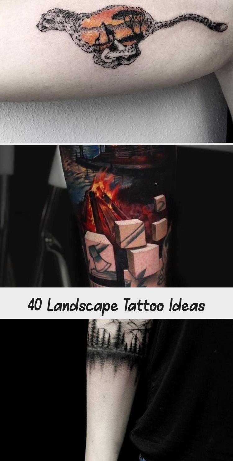 Photo of Idées de tatouage de paysage #AbstractArtTattoo #ArtTattooEscrita #ArtTattooVorlage #A …