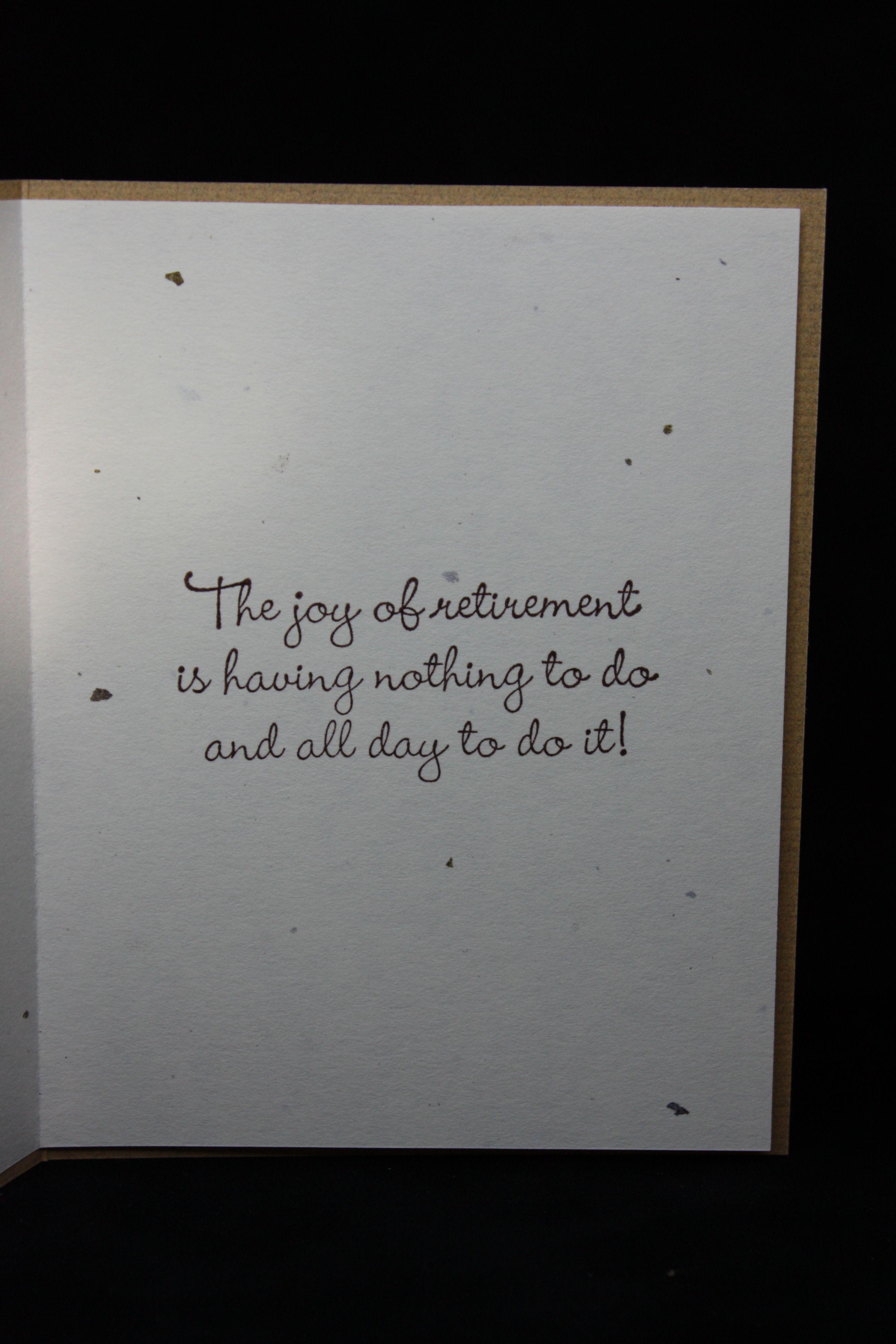 Inside Of Retirement Card Card Sentiments Pinterest