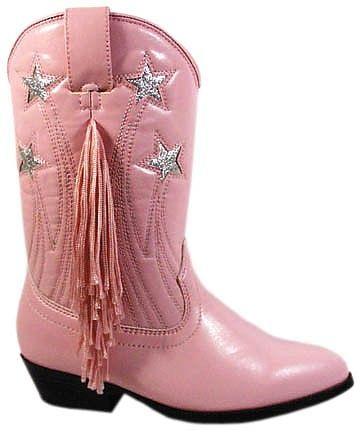 Girls Pink Cowboy Boots w/ Fringe