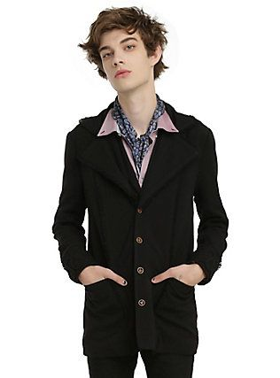 Disney Alice Through The Looking Glass Mad Hatter Guys Lined Black Jacket, BLACK