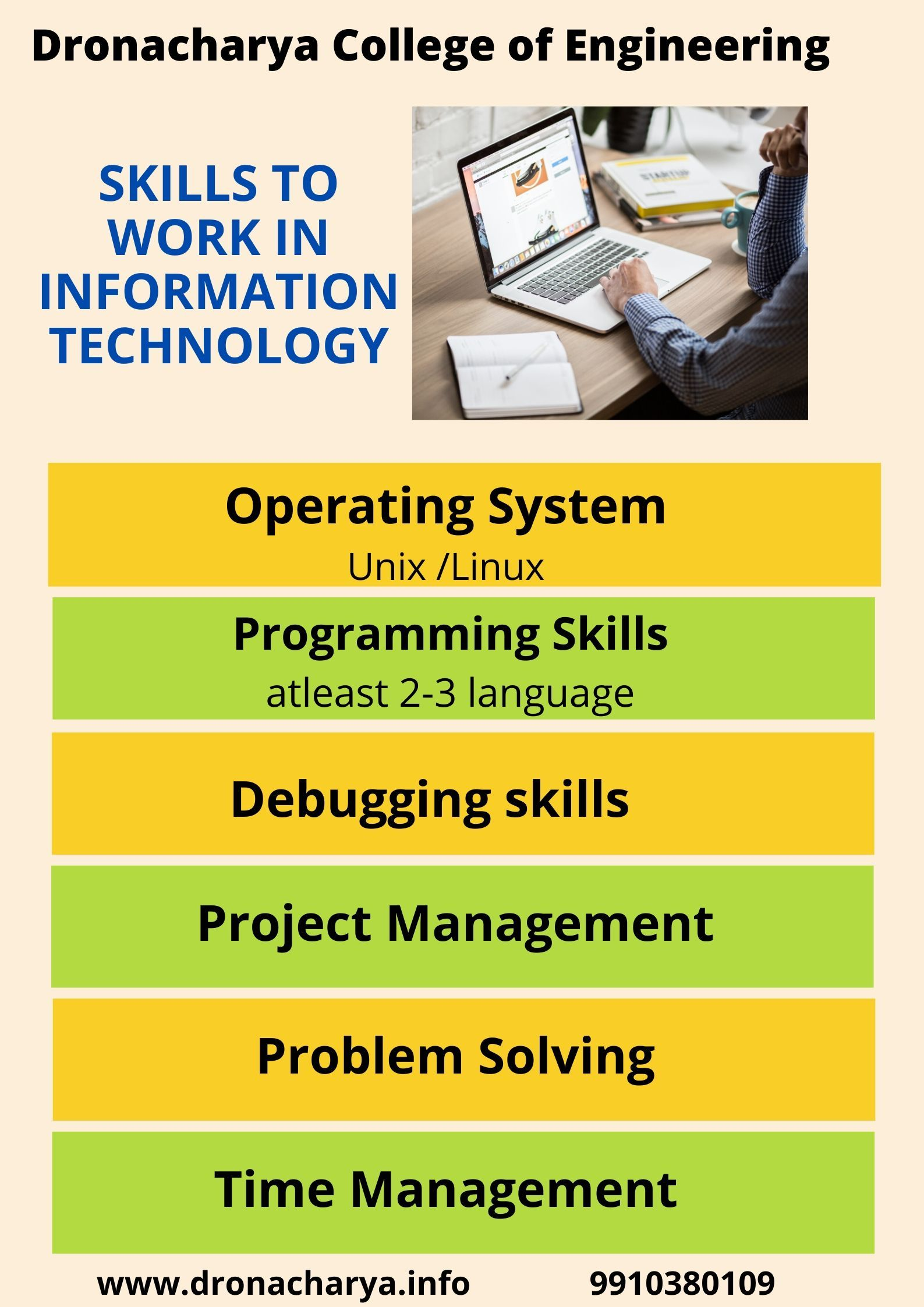 Skills Of It Dronacharya College Of Engineering Information Technology Engineering Courses Top Engineering Colleges