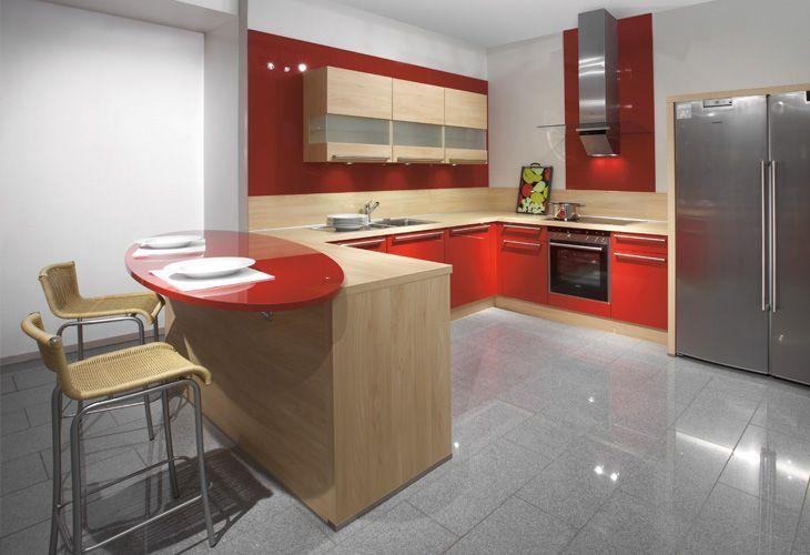 Küche in Rot #Kücheninsel #Designerküche wwwdyk360-kuechende - Küchen Weiß Hochglanz