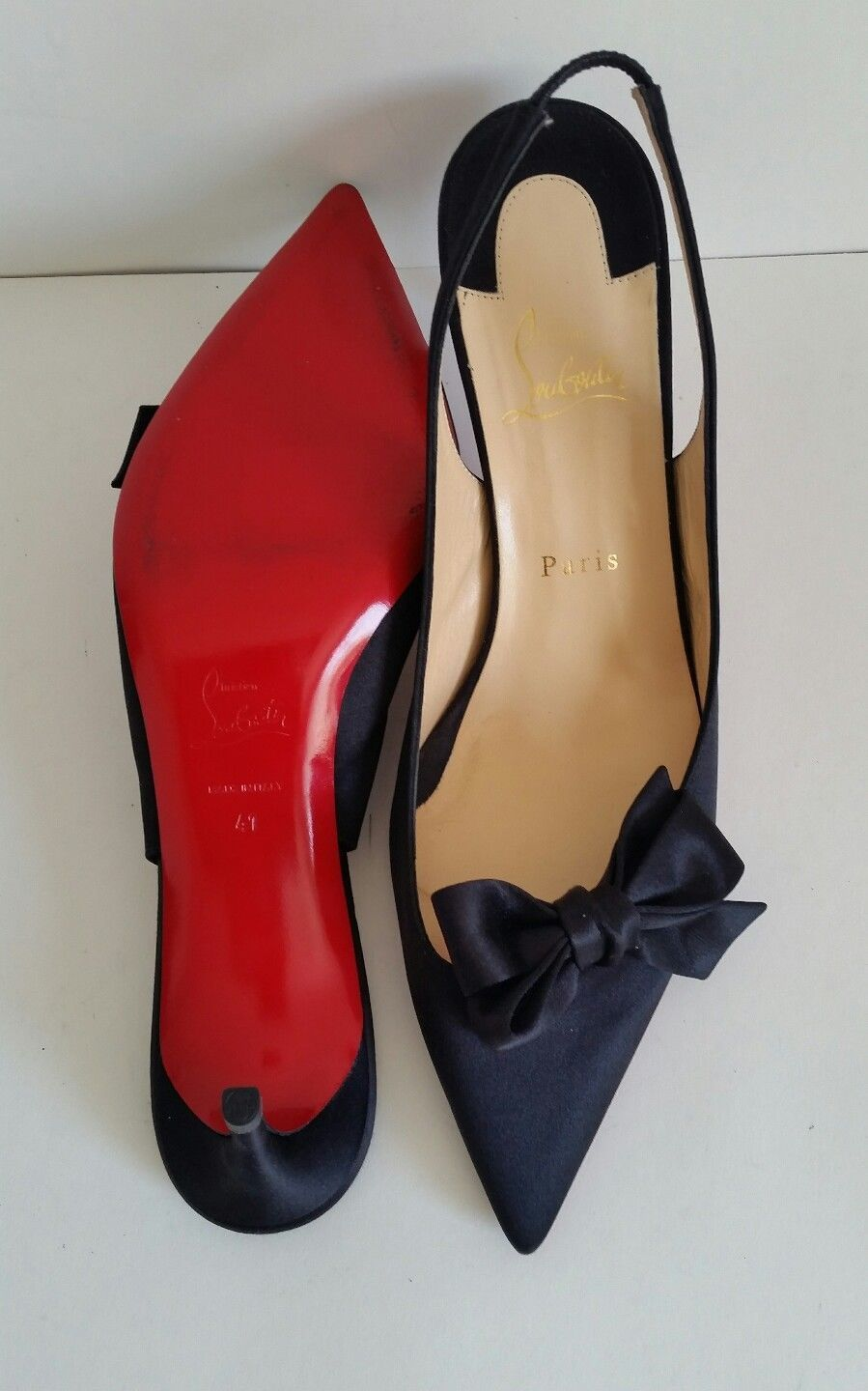 3ec89e68e5ef CHRISTIAN LOUBOUTIN  Yasling  Bow Mid 70mm Pump - Size 10 - MSRP ...