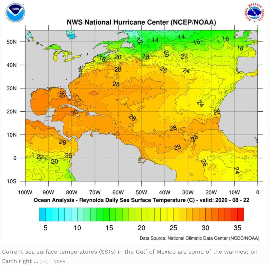 Some Of The Warmest Water On Earth Is In The Path Of Laura And Marco Why That S Bad In 2020 National Hurricane Center Warm Water Earth