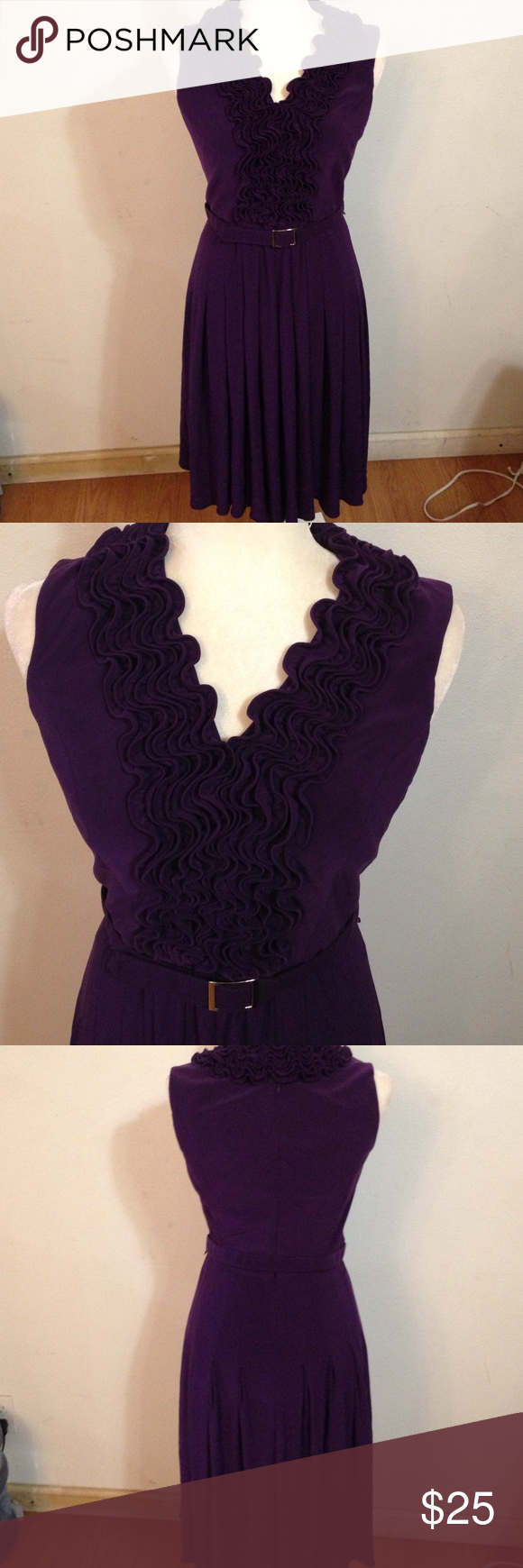 Adriana papell beautiful dress Adriana papell Georgeous purple dress like new excellent condition as is Adrianna Papell Dresses Asymmetrical