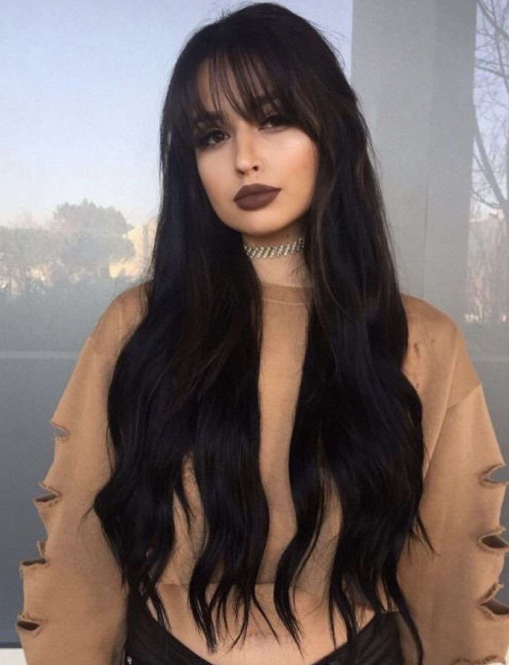 Brown Lips Hair Styles Waist Length Hair Long Hair Styles
