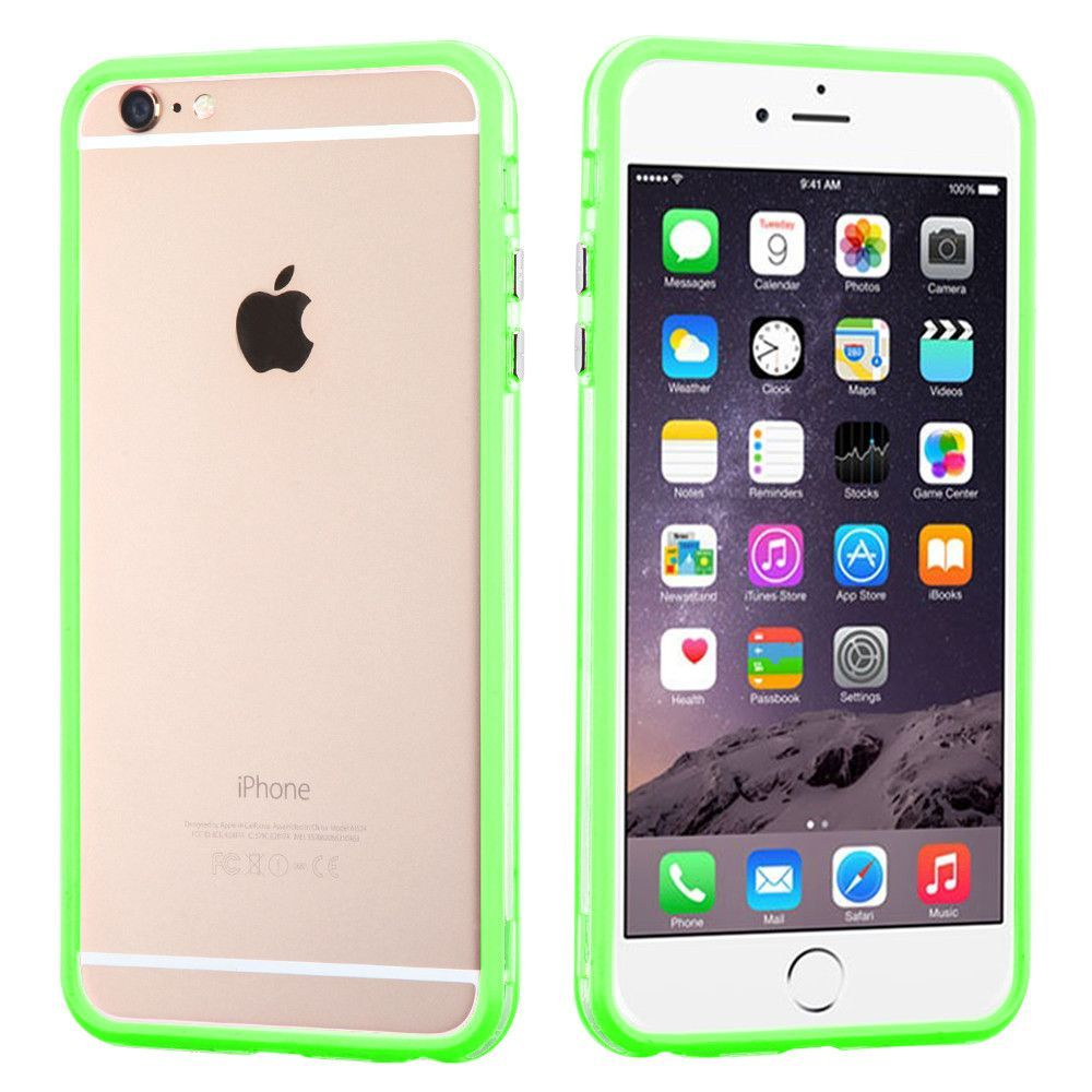size 40 4bae3 29308 MYBAT Hybrid Bumper iPhone 6/6S Plus Case - Apple Green/Clear in ...