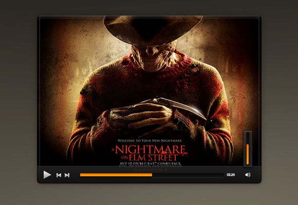 Simple Music Ui Video Player Psd User Interface On Tv