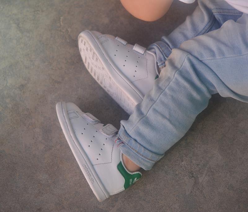 zapatillas casual de bebé stan smith cf i adidas