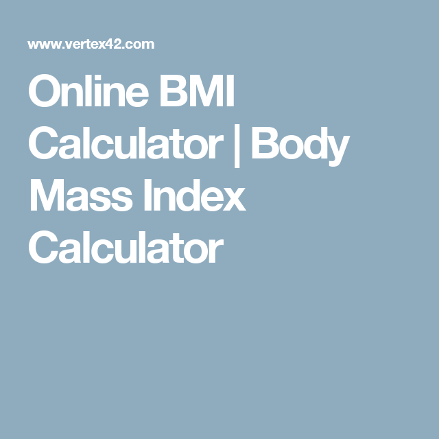 Online Bmi Calculator  Body Mass Index Calculator  Health