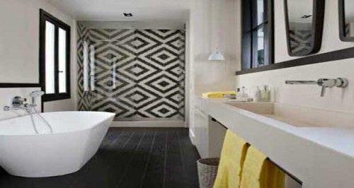Les carreaux de ciment subliment la déco de la salle de bain
