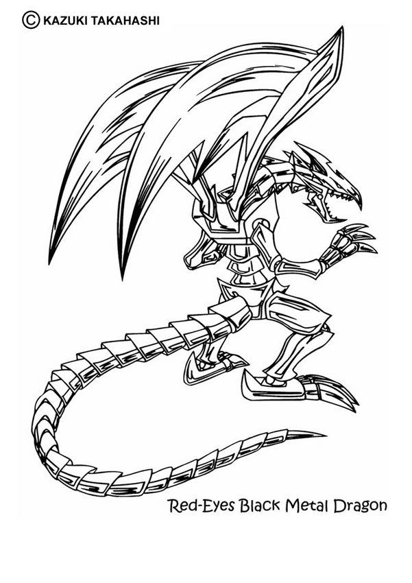 Free Yu Gi Oh Coloring Pages With Images Dragon Coloring Page