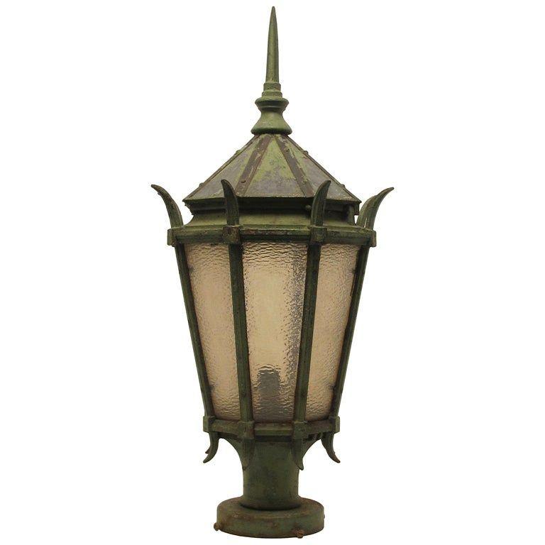 Large Antique American Cast Iron Street Light Fixture Lantern In 2020 Street Light Light Fixtures Lamp Post Lights