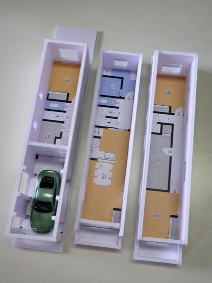 間口3m!細長い狭小敷地を最大限に利用した3階建てビルトイン二世帯住宅 | 建築システム(狭小住宅専門店)の新築施工例【イエタテ】