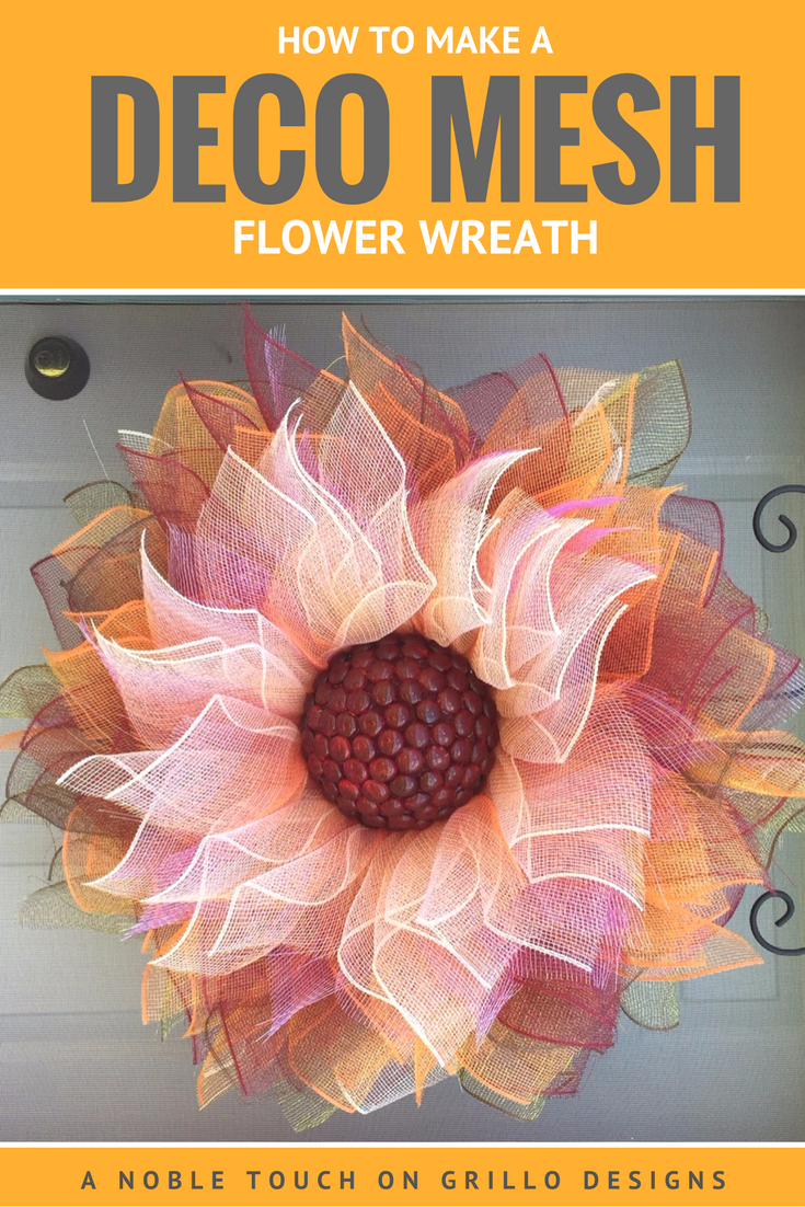 Geo mesh wreath form - How To Make A Deco Mesh Flower Wreath Other Designs