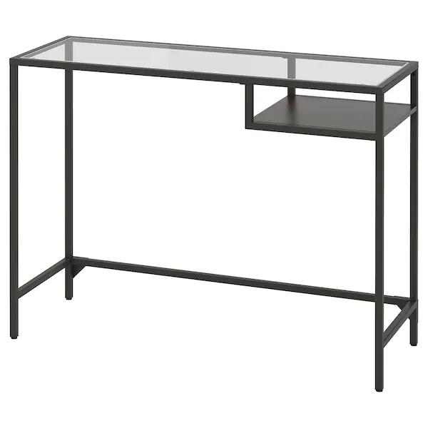 Vittsjo Table Ordinateur Portable Brun Noir Verre 100x36 Cm Ikea En 2020 Table Pour Ordinateur Portable Meubles Ikea Ikea