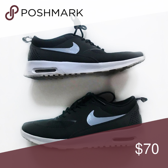 size 40 efeef 7d050 Nike AirMax Thea Women s size 8 Black with white bottom and soles Gently  used Nike Shoes Sneakers