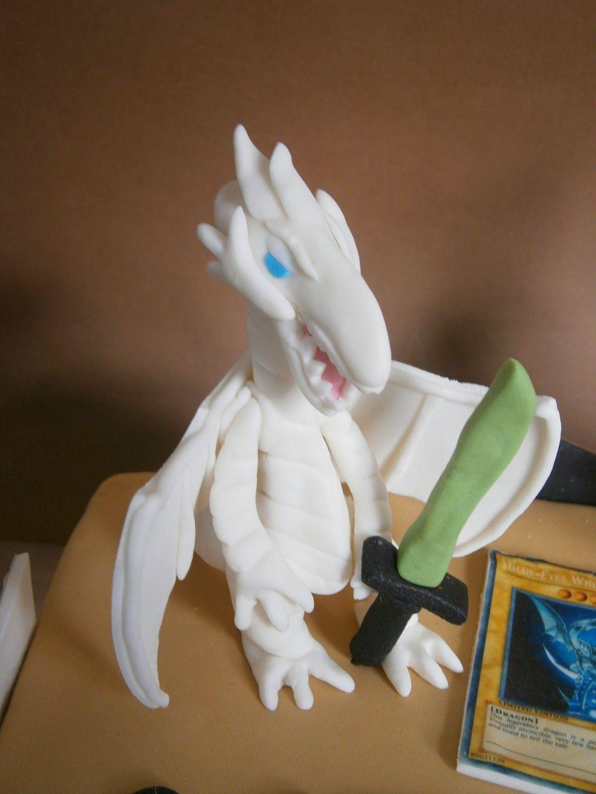 Blueeyes white dragon figure tutorial dragon cake cake