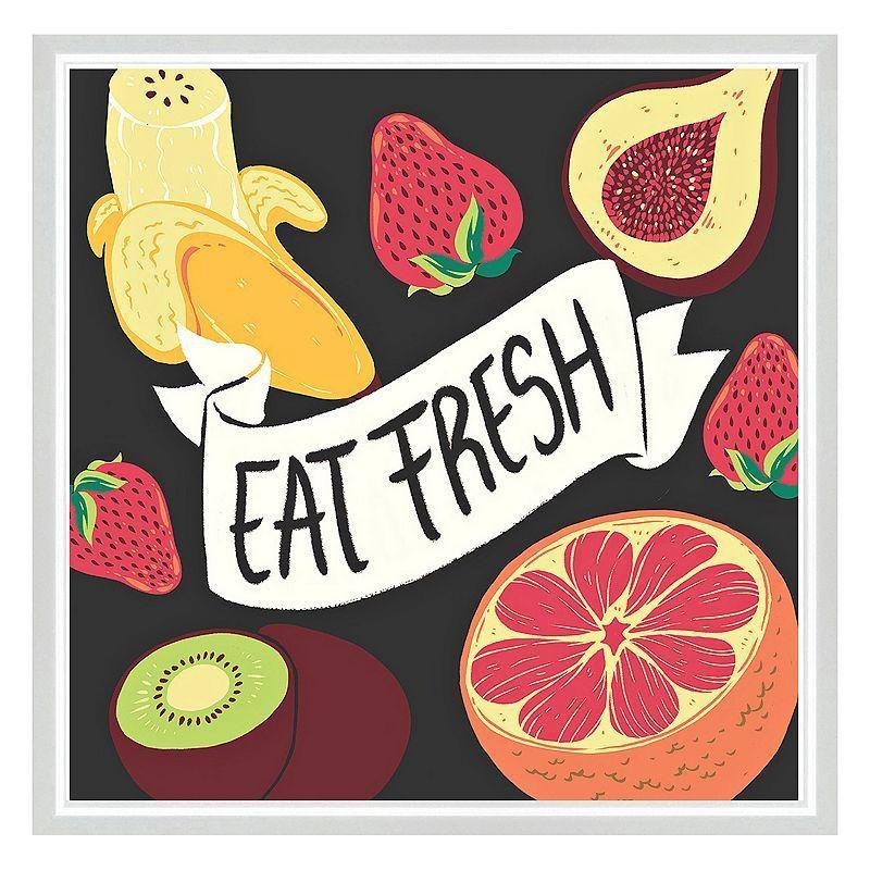 Eat Fresh Framed Canvas Wall Art, Multicolor