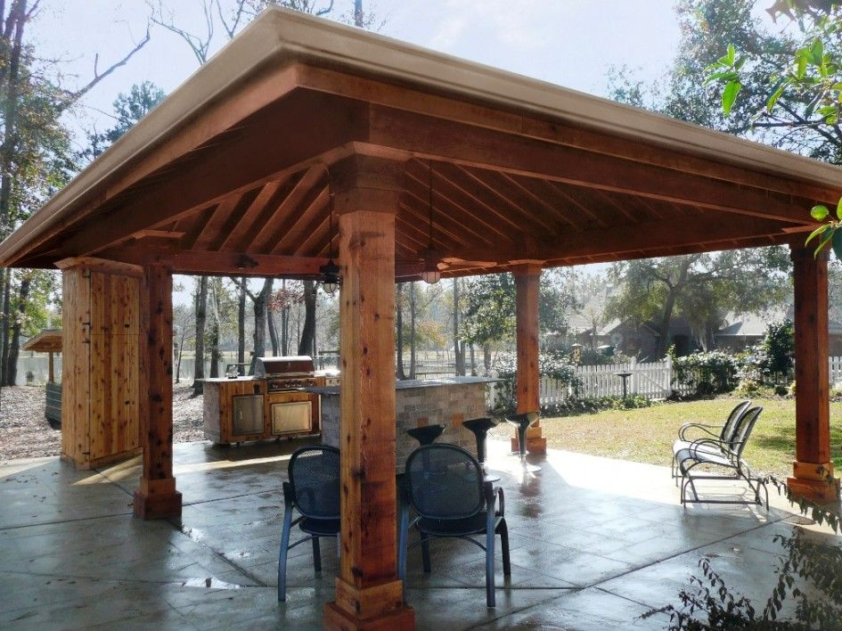 Outdoor bar pavilion bing images pavilion pinterest for Wood outdoor bar ideas
