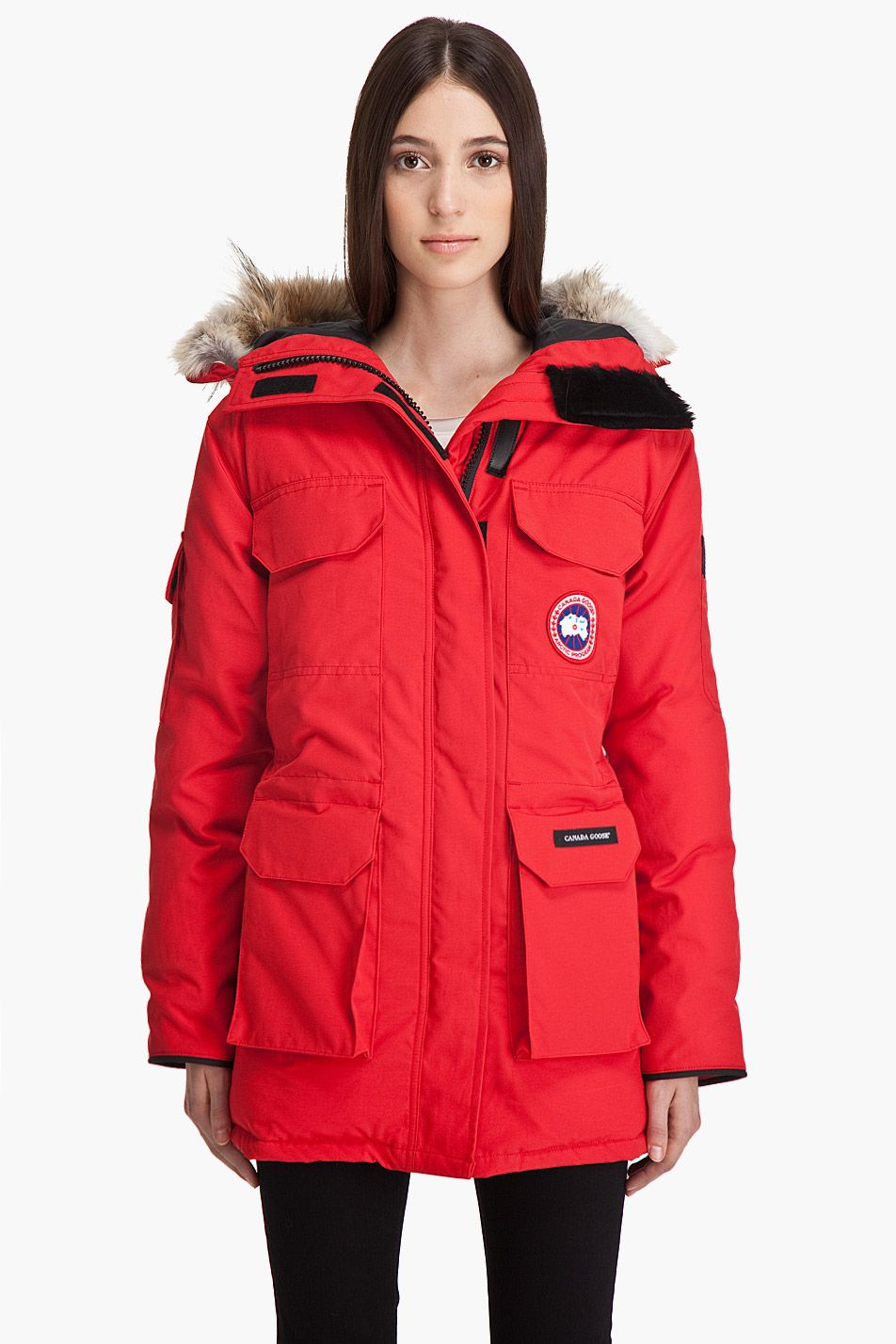 Canada Goose Women S Kensington Parka Red Canada Goose Women Kensington Parka Designer Leather Jackets