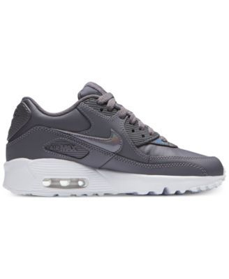 huge selection of 8b5b2 f5a90 Nike Girls  Air Max 90 Leather Running Sneakers from Finish Line - Black 5.5