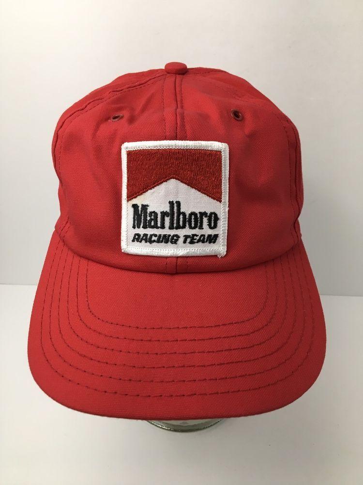 08c40a7bad094 Vintage Marlboro Hat Racing Team Patch Cap Cotton Sweatband USA New Without  Tags  Marlboro  Vintage