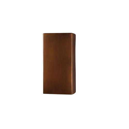 Justice design group ambiance antique copper led large rectangular ambiance antique copper led large rectangular outdoor wall sconce with opened top and bottom 13 mozeypictures Image collections