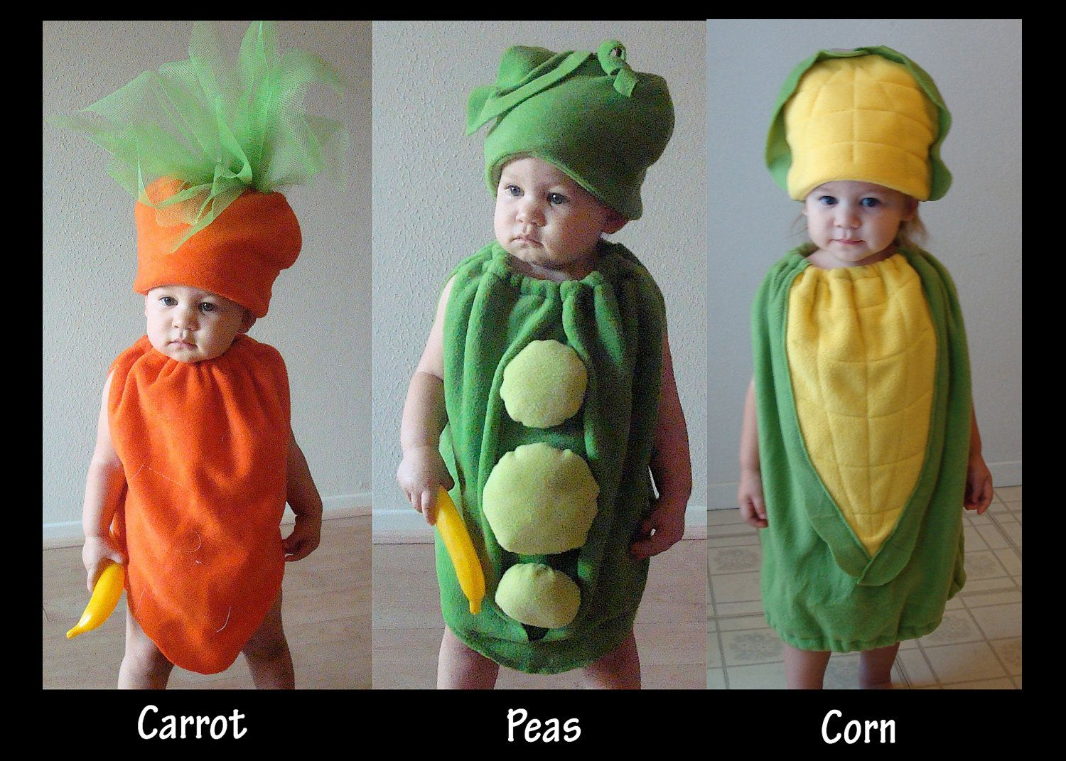 Baby Corn on the Cob Costume Hallowen Infant Toddler Newborn Twin ...