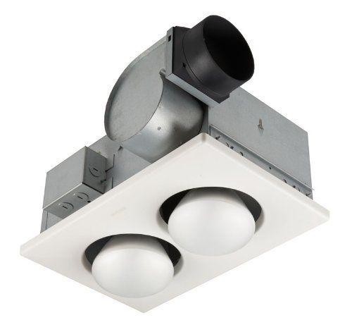 Broan 164 2 Bulb Ventilation Heater Bath Fan With Lights Bathroom Fans Amazon Com Bathroom Heat Lamp Broan Fan Light