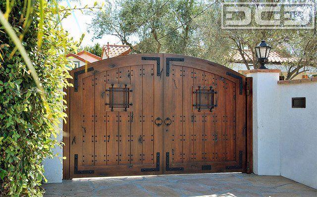 Elegant Dynamic Garage Door   Anaheim, CA, United States. Spanish Style Automatic  Driveway Gate