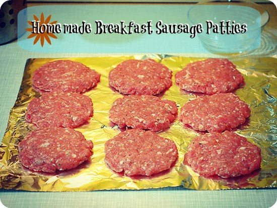 how to cook breakfast sausage patties