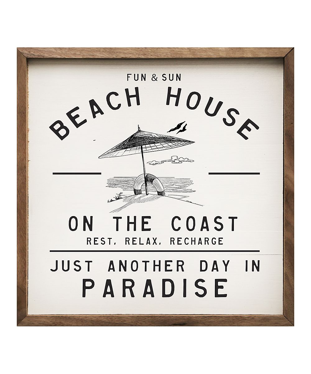 Photo of 'Fun & Sun Beach House' Wood Wall Sign