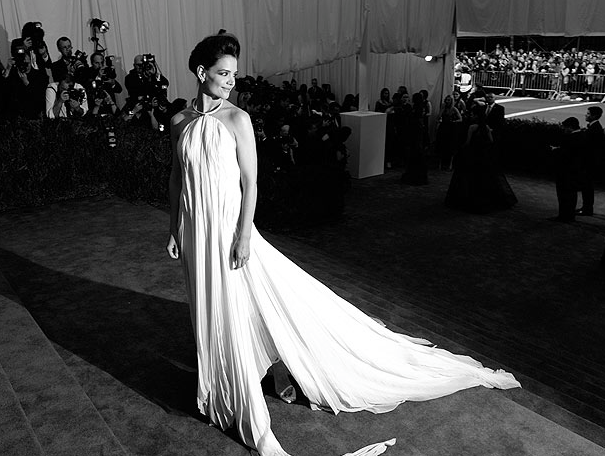 Ok, Katie, now I'm impressed.  Katie Holmes in Calvin Klein Collection at the Met Gala.