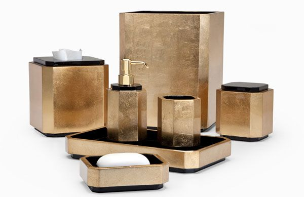 Exceptionnel 10 Sophisticated Accessories Bathroom For Luxury Look : The Numi Gold Of  Luxury Bathroom Accessories Set