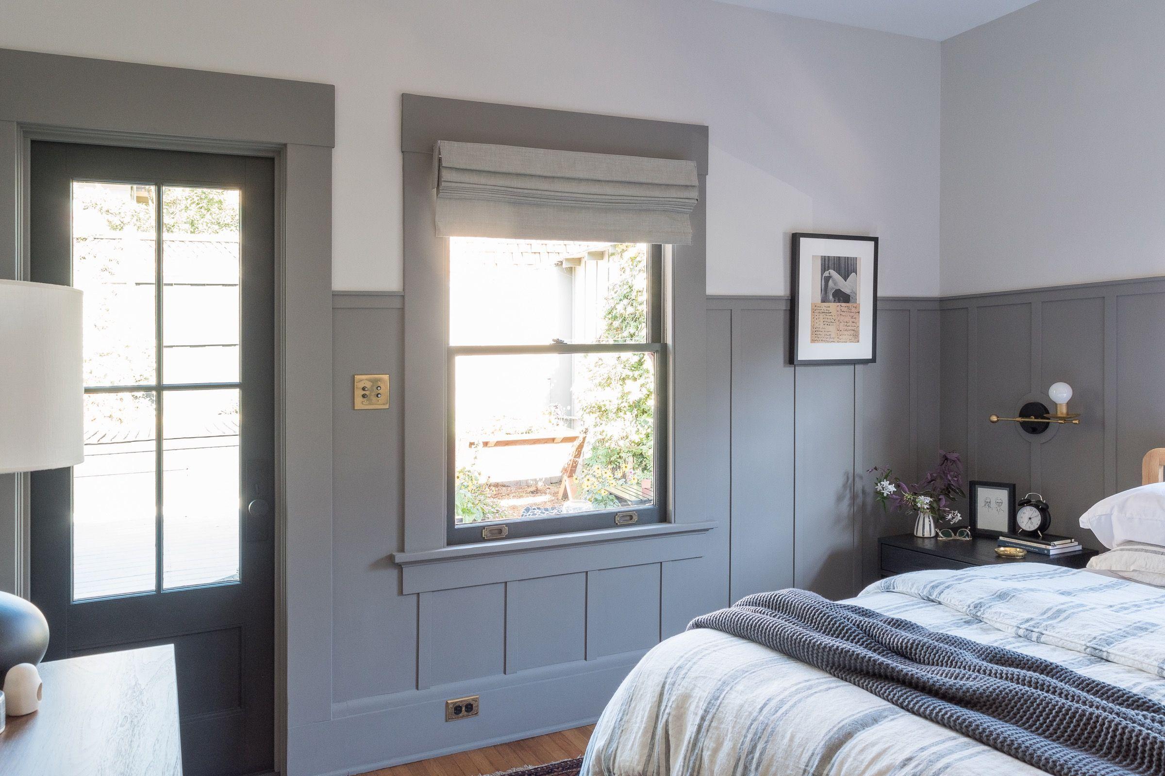 Master Bedroom Reveal Of One Room Challenge The Gold Hive Black Door Patio Door Pella Door Addition Master Bedroom Room Pella Doors